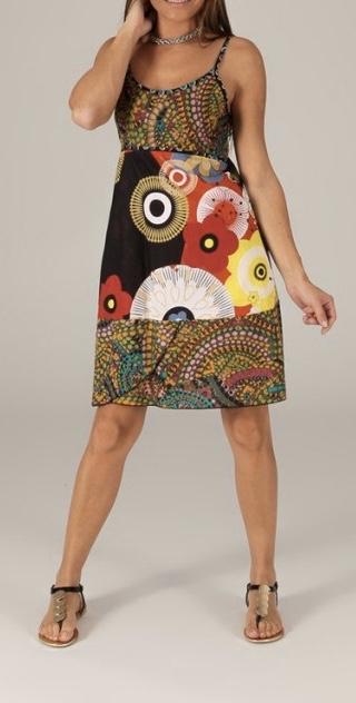 Robe courte imprimée coton boho boheme chic dress1216