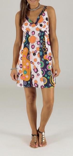 Robe courte imprimée coton boho boheme chic dress1212
