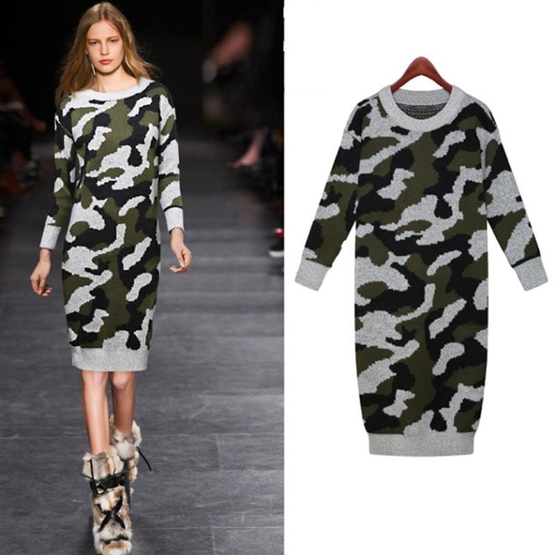 Robe pull camouflage boho boheme chic DRESSL1158