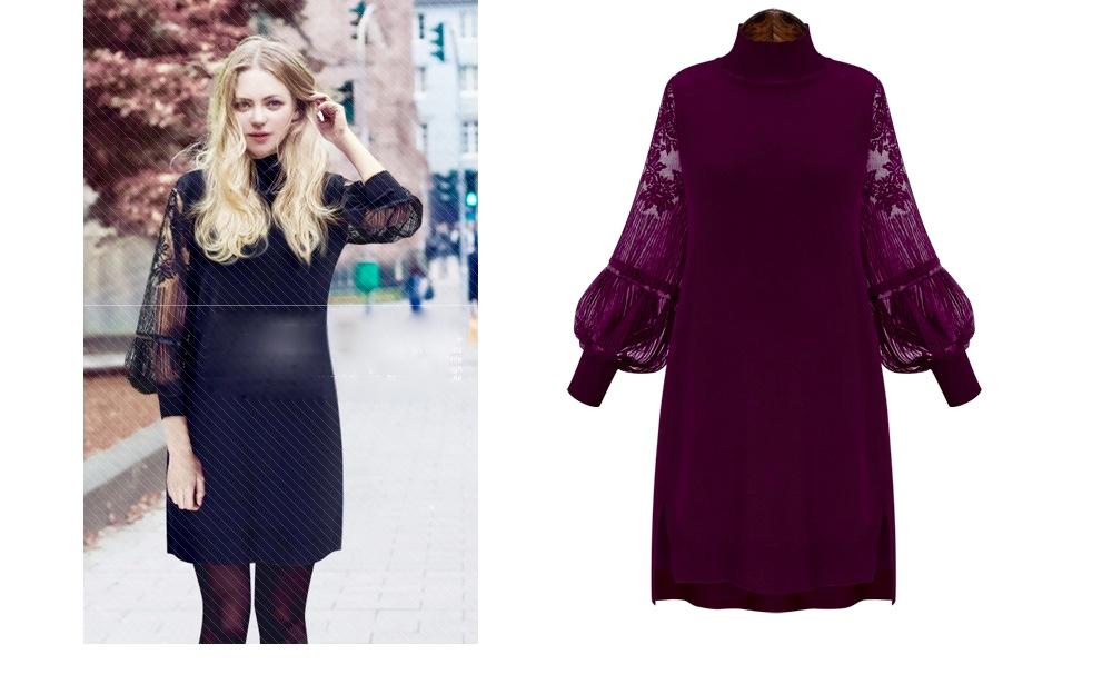 Robe courte tunique manches voile boho boheme chic dress1106