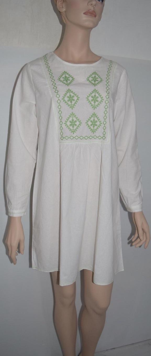 Robe brodée boho boheme chic dress0990