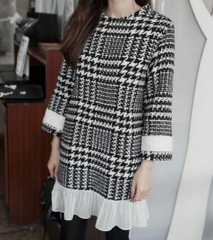 Robe courte carreaux mousseline boho boheme chic dress0831