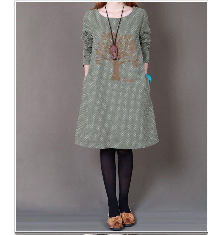 Robe imprimé arbre ethnique boho boheme chic dress0829