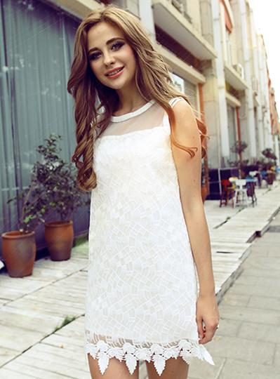 Robe courte dentelle haute qualité boho boheme chic dress0798