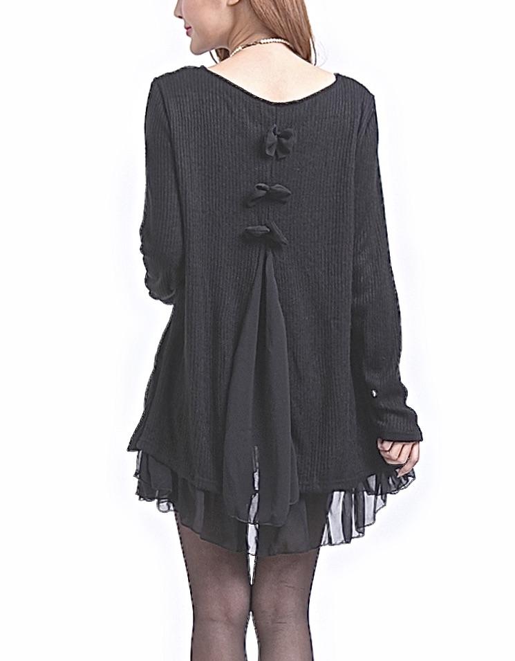Robe très courte tunique noeud dos marque boho boheme chic DRESS0524