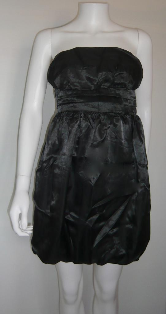 Robe bustier soirée satin noire boho boheme chic dress0429