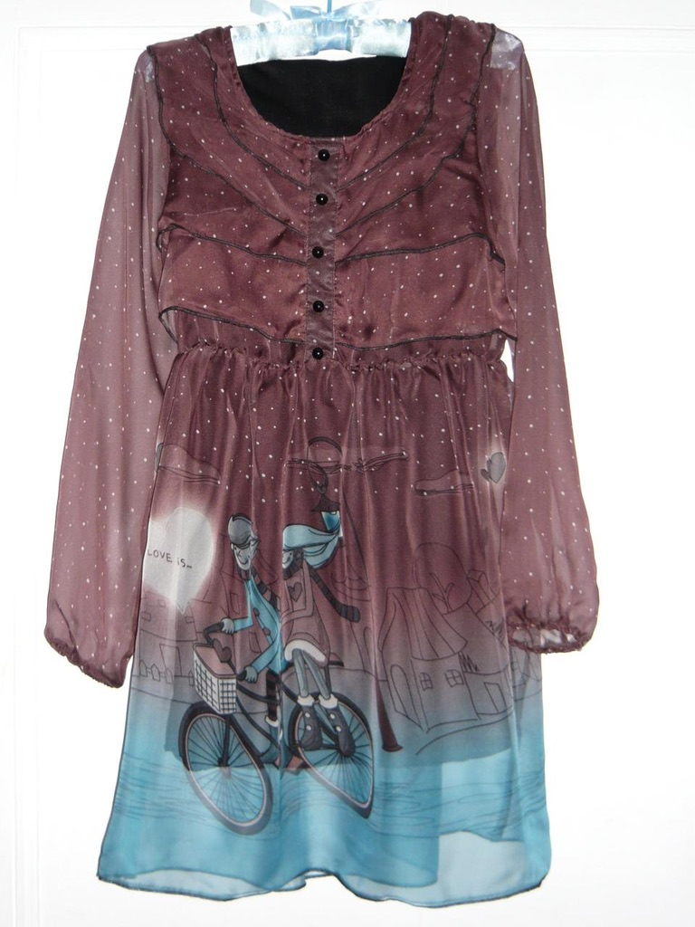 Robe love is imprimée soie boho boheme chic dress0216