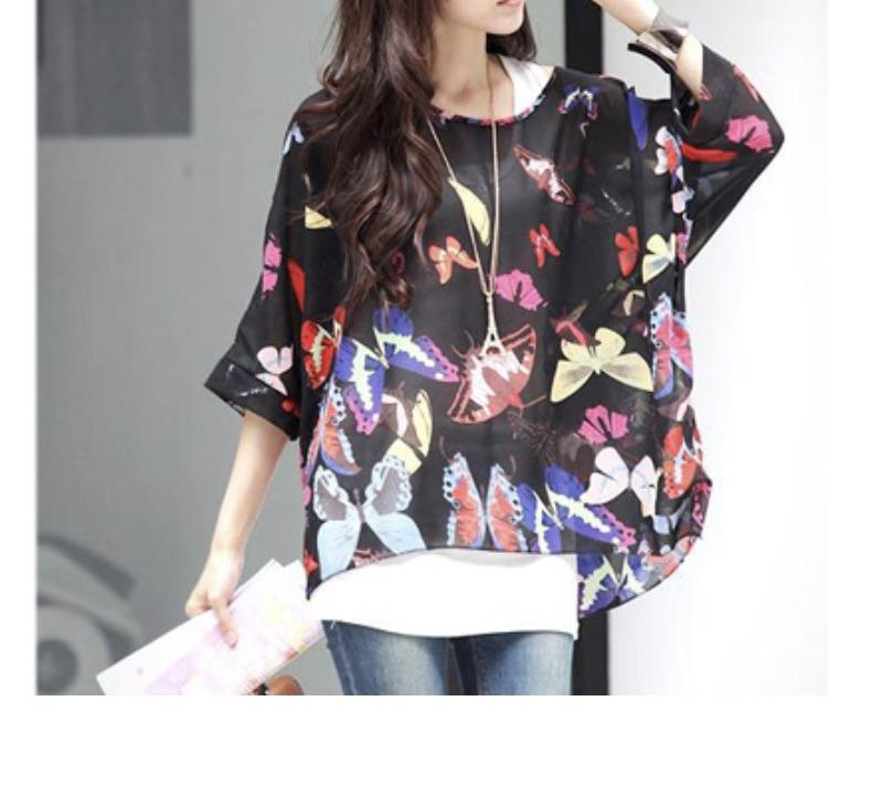 Blouse tunique papillons boho boheme chic blouse0190