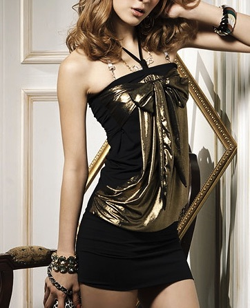 Robe bustier doré boho boheme chic DRESS0120