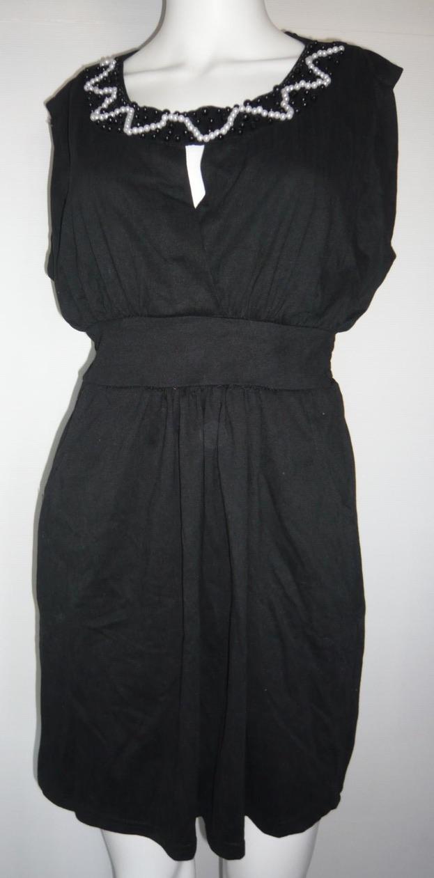 Robe courte encolure perles boho boheme chic DRESS0118