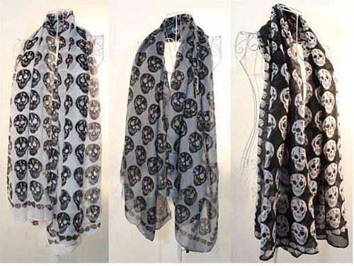 Echarpe foulard têtes de mort boho boheme chic SCARF00420