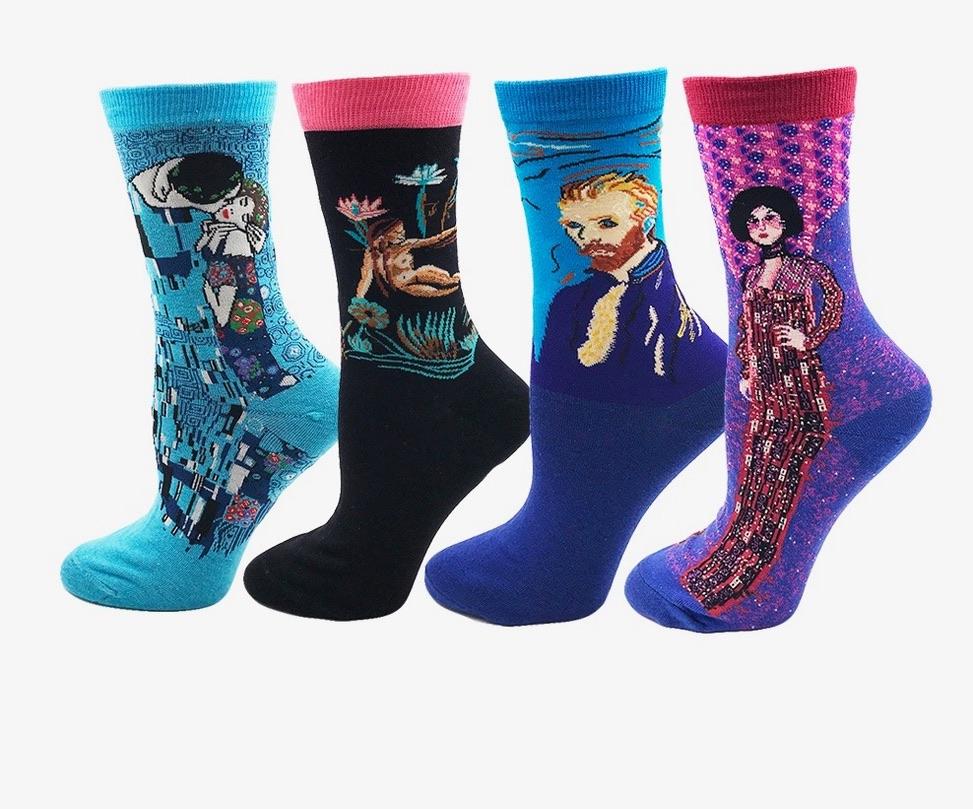 Lot de 4 paires chaussettes boho boheme chic SOCKS0063