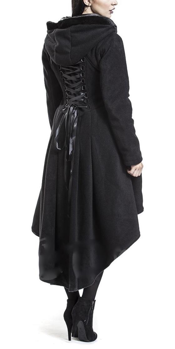 Manteau capuche laçage dos boho bohème chic  COAT0241