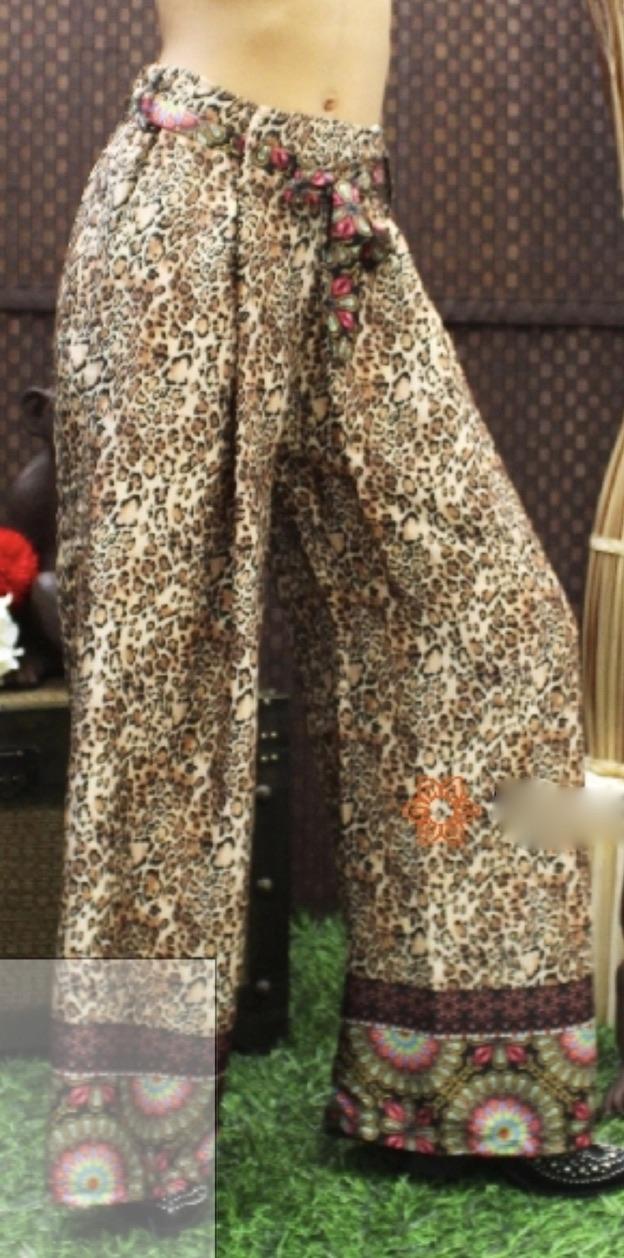 Pantalon ample léopard boho bohème chic PANT0202