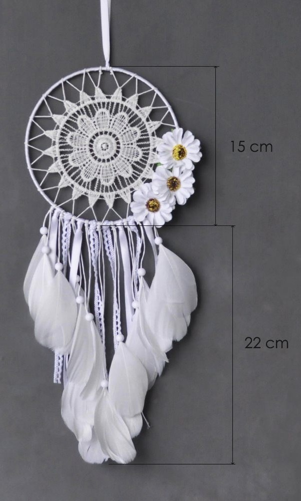 Attrape rêves plumes dentelle fleurs marque boho bohème chic access0337