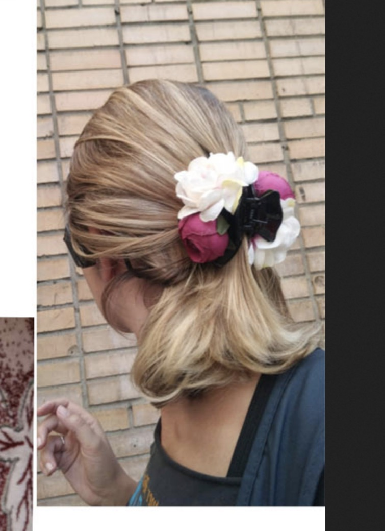 Pince peigne cheveux fleurs boho boheme chic HAIR0430