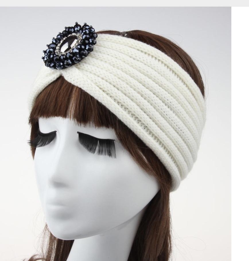 Bandeau cheveux laine bijou boho boheme chic HAIR0342