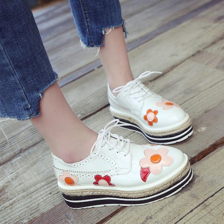 Chaussures fleurs vernies boho boheme chic CHAUS0098
