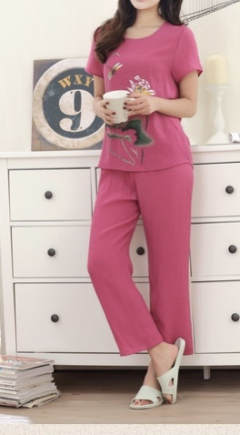 Pyjama fleurs marque boho boheme chic PYJ0330