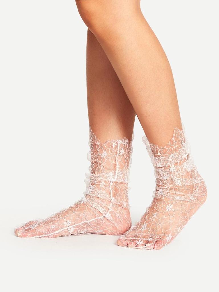 Socquettes blanches boho boheme chic chauss0327