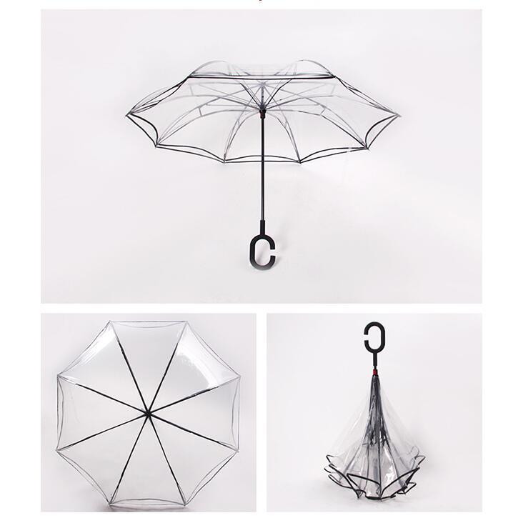 Parapluie transparent fleurs boho boheme chic access0016
