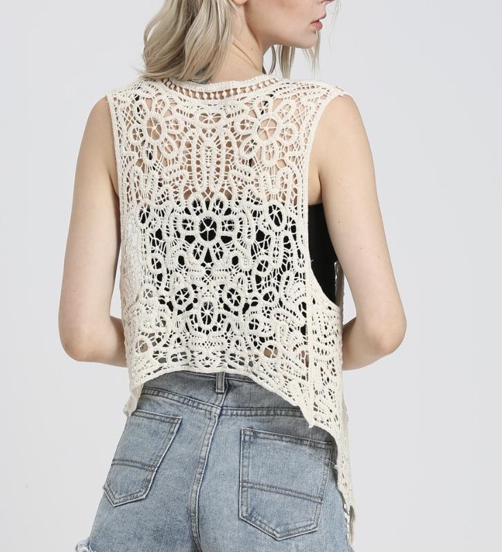 Gilet crochet boho boheme chic GIL0184