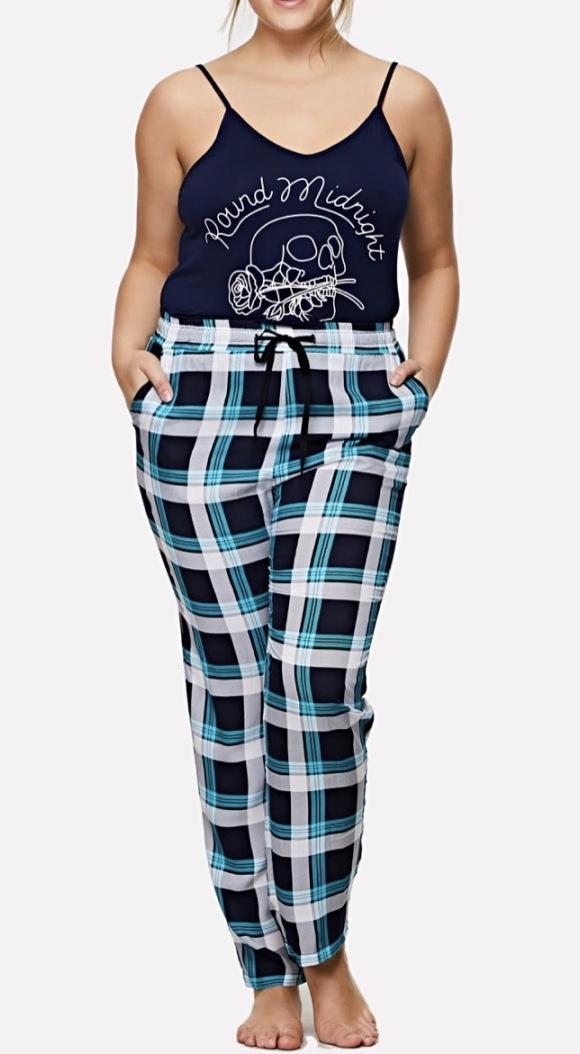 Pyjama imprimé carreaux boho boheme chic  PYJ0039