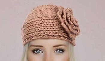 Bandeau cheveux laine fleur boho boheme chic hair0305