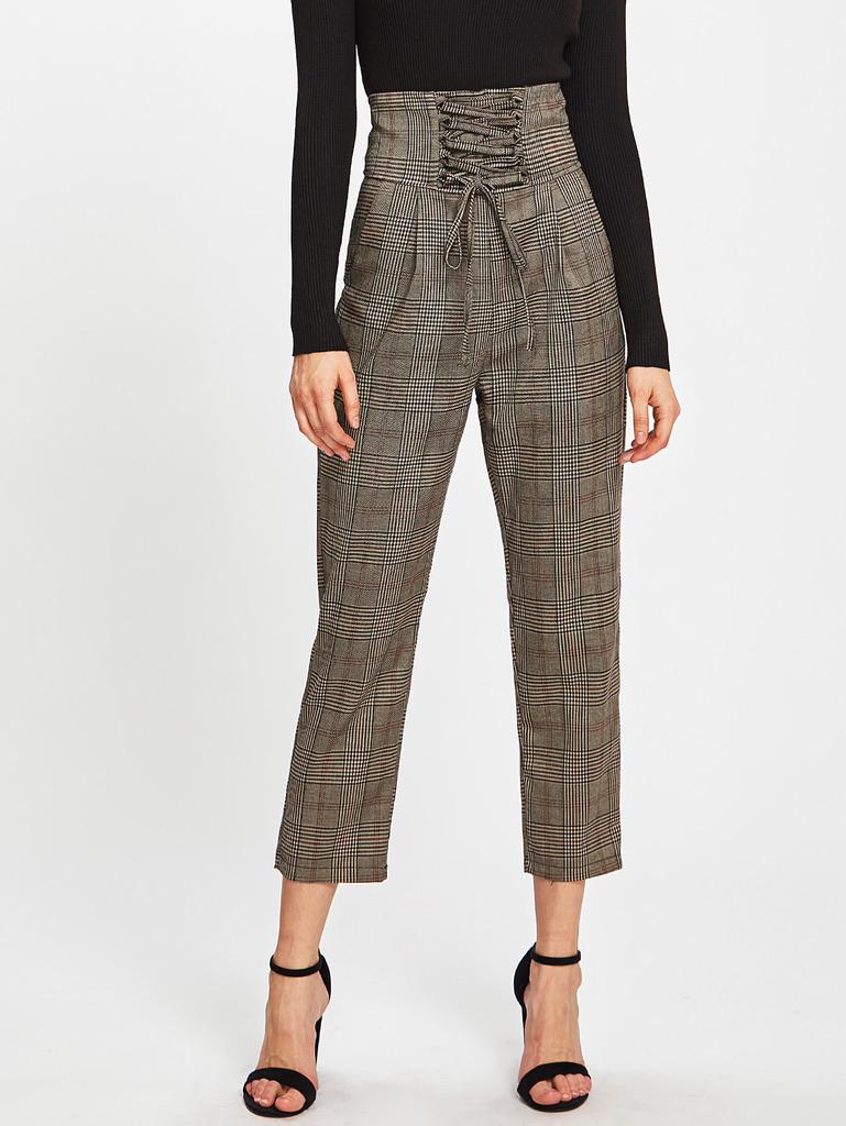Pantalon 3/4 taille haute boho boheme chic PANTS0172