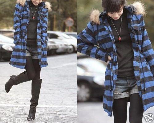 Manteau carreaux boho boheme chic coat0011