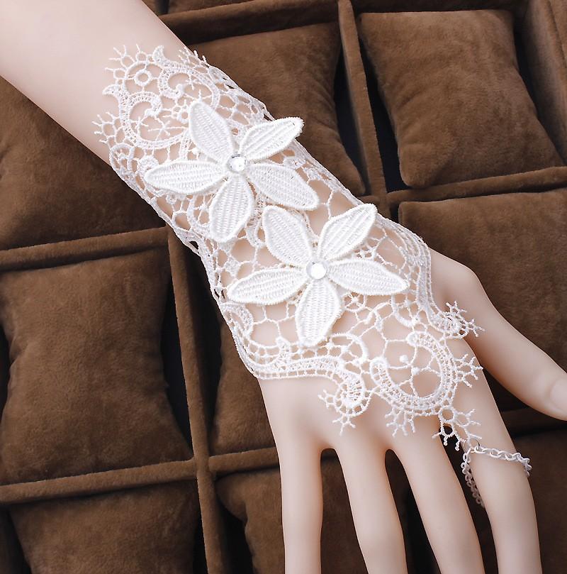 Gant 1 doigt dentelle mariage boho boheme chic gloves0272