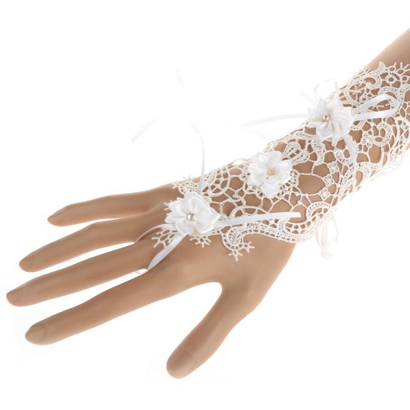 Gant 1 doigt dentelle fleur boho boheme chic gloves0326