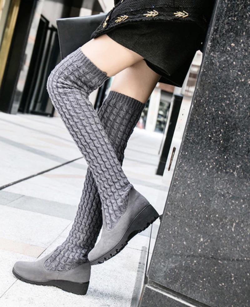 Bottes hautes chaussettes boho boheme chic BOOTS0104