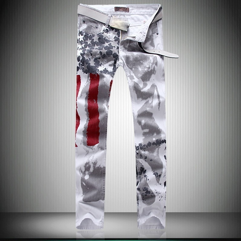 Jean homme drapeau américain boho boheme chic HOM004