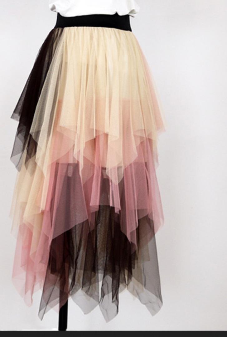Jupe tulle multi couleurs boho boheme chic skirt0262