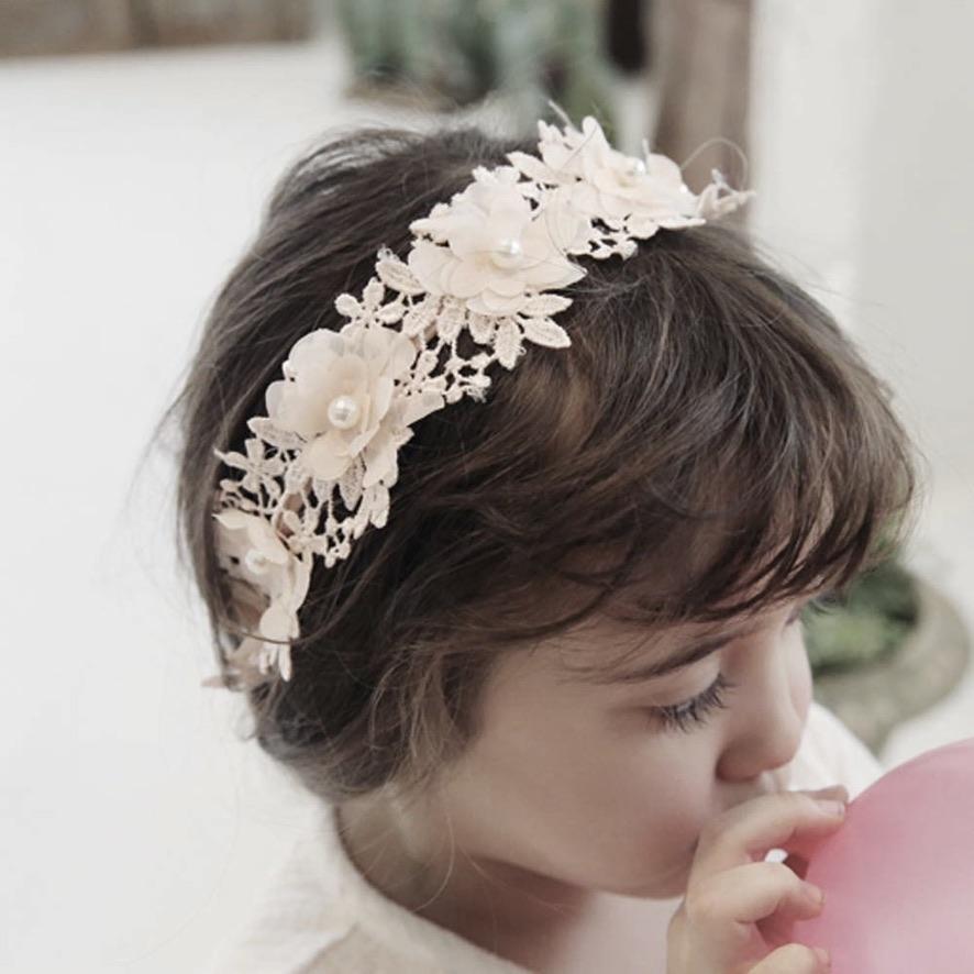 Couronne cheveux petite fille dentelle fleurs boho boheme chic hair0265