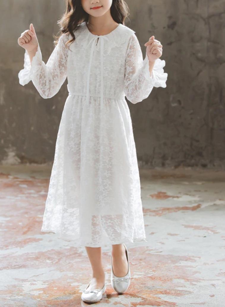 Robe dentelle petite fille boho boheme chic dresspf1768