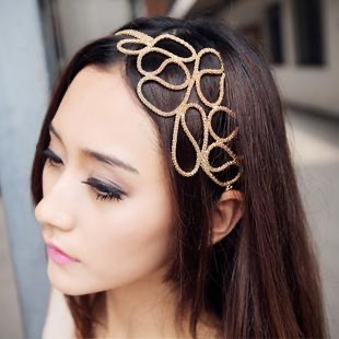 Bandeau cheveux bijou doré boho boheme chic hair0032