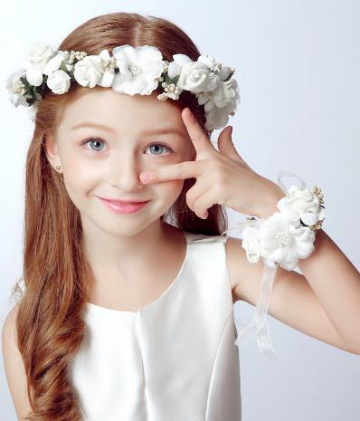 Couronne cheveux petite fille dentelle fleurs boho boheme chic access0185
