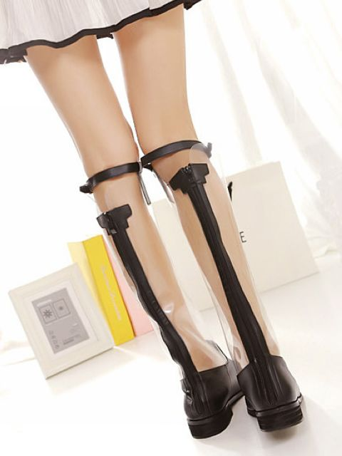Bottes transparentes boho boheme chic boots0027