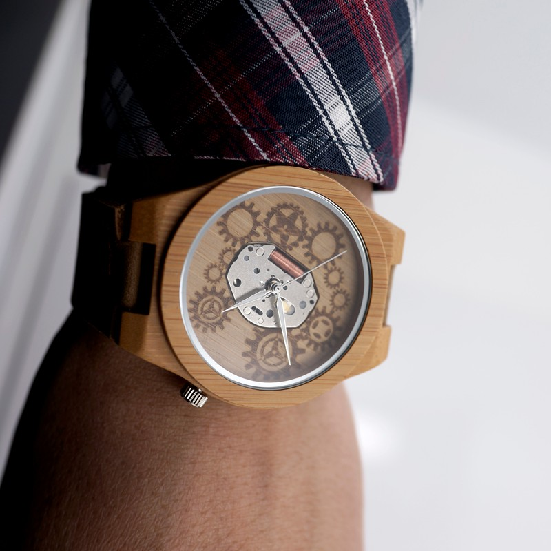 Montre bracelet bois liege boho boheme chic watch0494