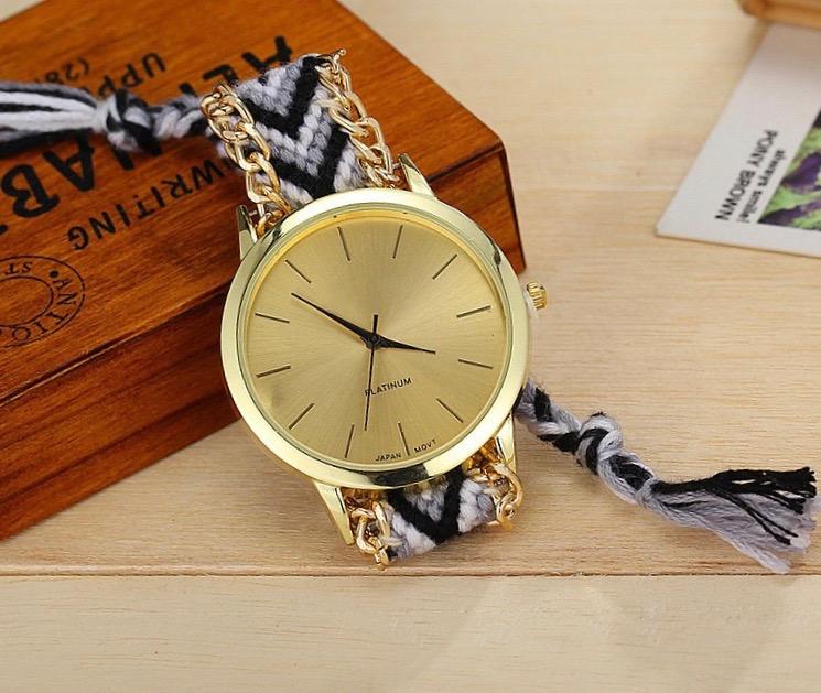 Montre bracelet brésilien tressé boho boheme chic watch0489