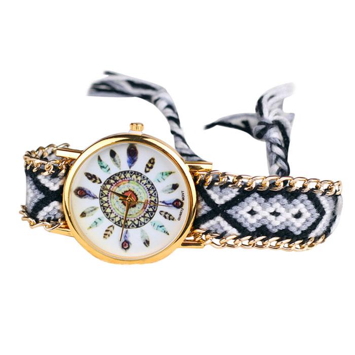 Montre bracelet brésilien tissé boho boheme chic watch0483