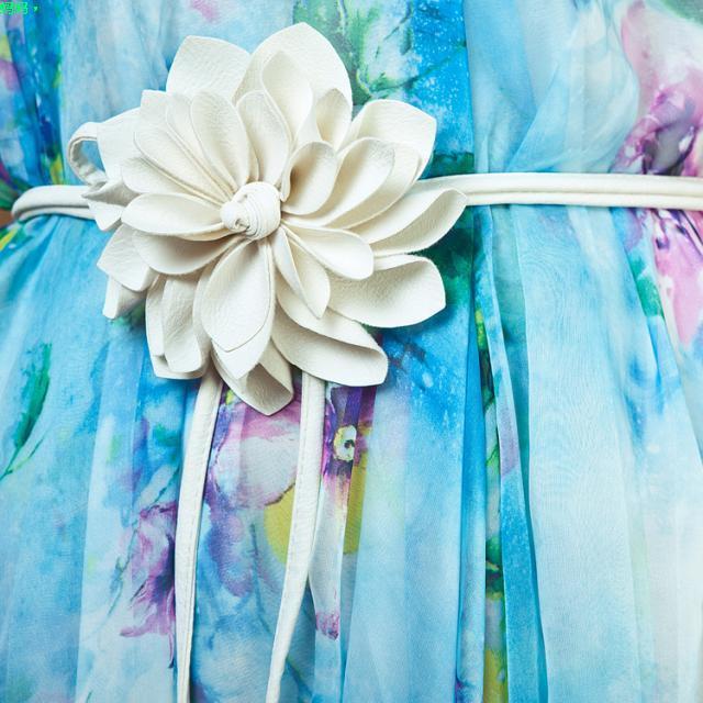 Ceinture fleur blanche boho boheme chic belt0238