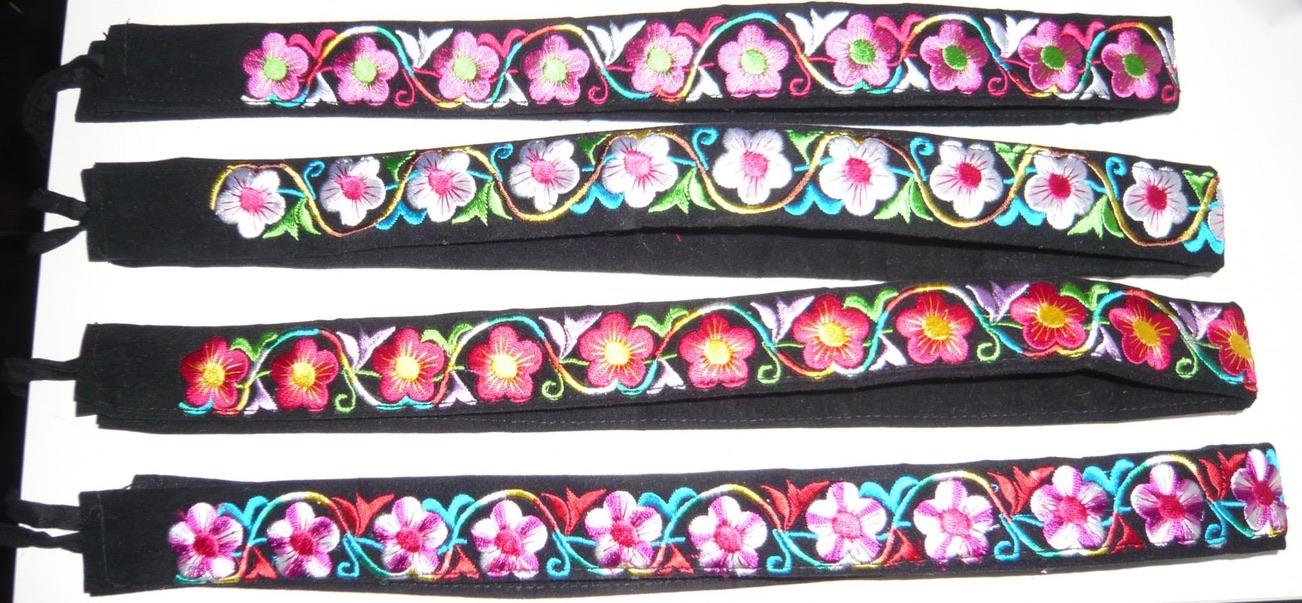 Ceinture brodée plusieurs coloris boho boheme chic belt0092