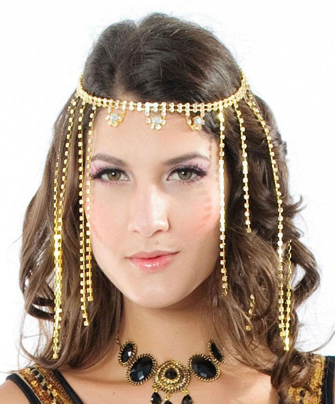 Bijou cheveux doré strass boho boheme chic HAIR0068