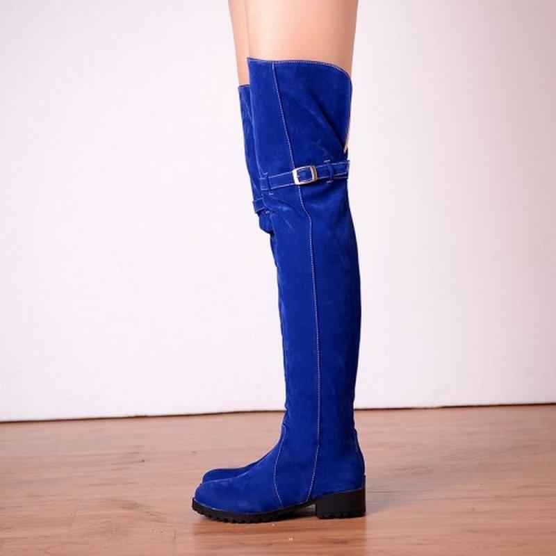 Bottes faux cuir bleues boho boheme chic boots0068