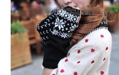 Mitaines motif flocon neige boho boheme chic access0089