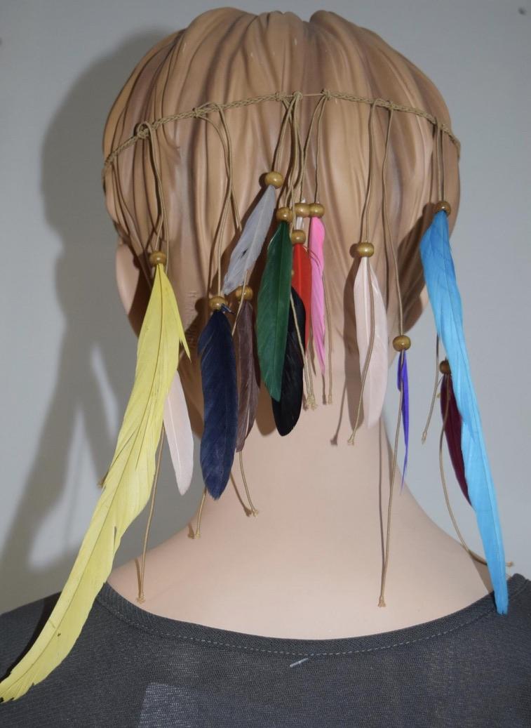 Bandeau cheveux plumes boho boheme chic hair0245