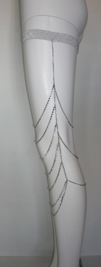 Chaine jambe strass boho boheme chic acess0077